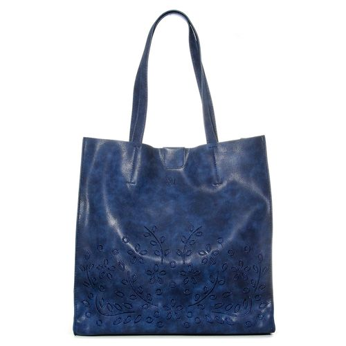 XL-ExtraLarge-SONG-SHOPPER-Cartera-azul