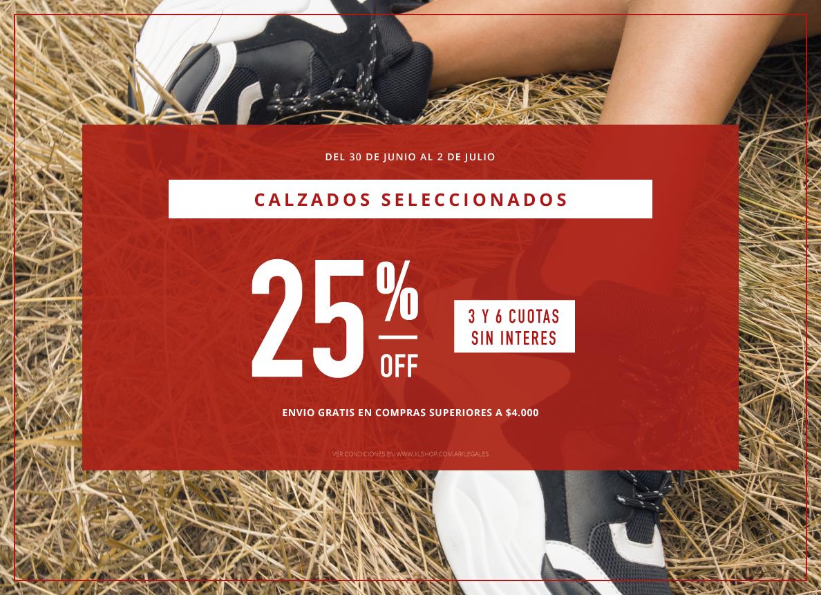 25% calzados seleccionados