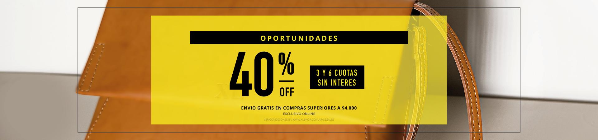 40% oportunidades
